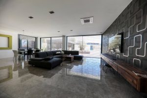 Inside view of Iframe Frameless Doors and Glass Fence
