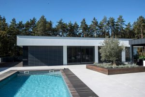 Iframe Frameless Doors and Glass Fence in private house near Celje