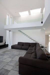 Iframe Frameless Doors, glass stairs and Glass Fence in private house