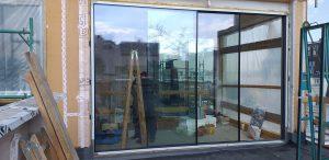triple glazed sliding door
